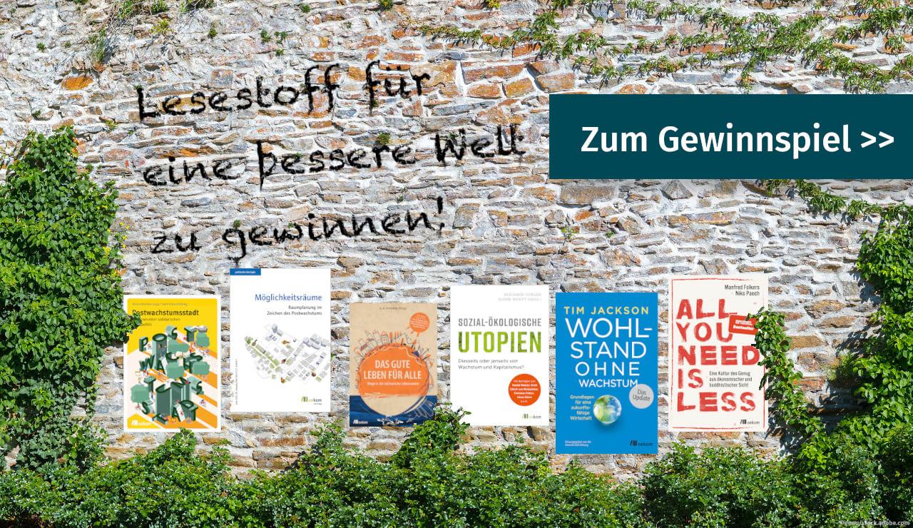 Gewinnen Sie Buchpakete zum Thema Postwachstum