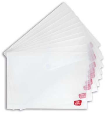 Sicht- und Schutzhülle für Kamishibai-Bildkarten (Kamishibai-Hülle), DIN A3, mit Klettverschluss, transparent, Vorteilspack mit 10 Exemplaren