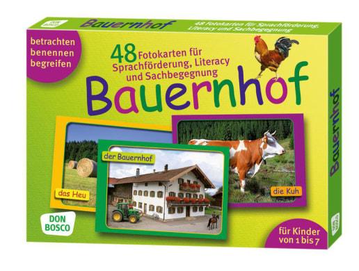 Bauernhof. 48 Fotokarten für Sprachförderung, Literacy und Sachbegegnung