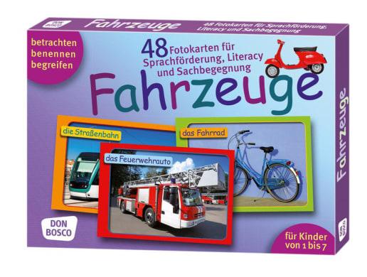 Fahrzeuge. 48 Fotokarten für Sprachförderung, Literacy und Sachbegegnung