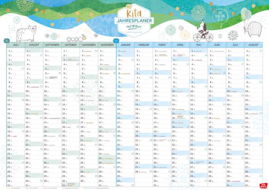 Der Kita-Jahresplaner (Juli 2021-August 2022)