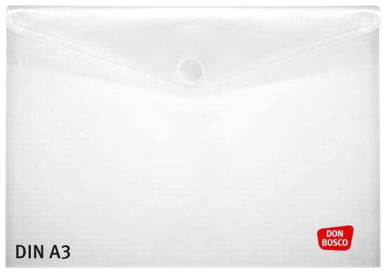 Sicht- und Schutzhülle für Kamishibai-Bildkarten, DIN A3, mit Klettverschluss, transparent.