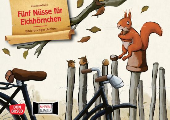 Fünf Nüsse für Eichhörnchen. Kamishibai Bildkartenset