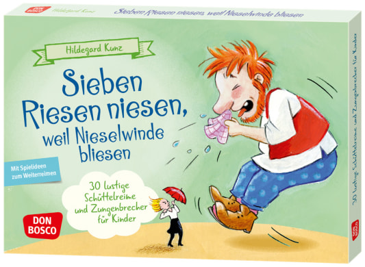 Sieben Riesen niesen, weil Nieselwinde bliesen