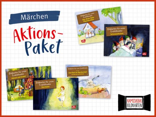 5 Märchen - Märchen fürs Kamishibai. Bildkartensets im Aktions-Paket mit Preisvorteil.