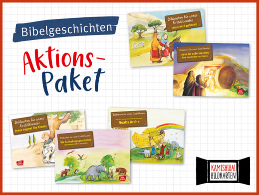 5 Bibelgeschichten fürs Kamishibai. Bildkartensets im Aktions-Paket mit Preisvorteil.