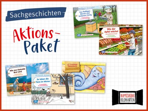 5 Sachgeschichten fürs Kamishibai. Bildkartensets im Aktions-Paket mit Preisvorteil.