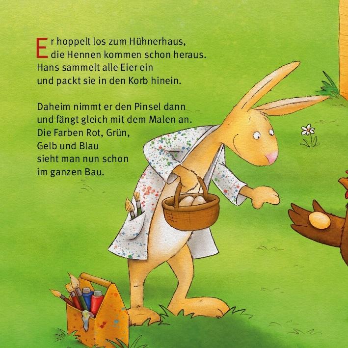 Innenansicht zu Henne, Has' und Osterspaß. Mini-Bilderbuch.