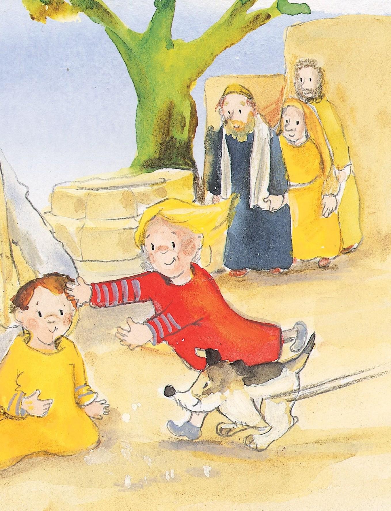 Innenansicht zu Jesus segnet die Kinder