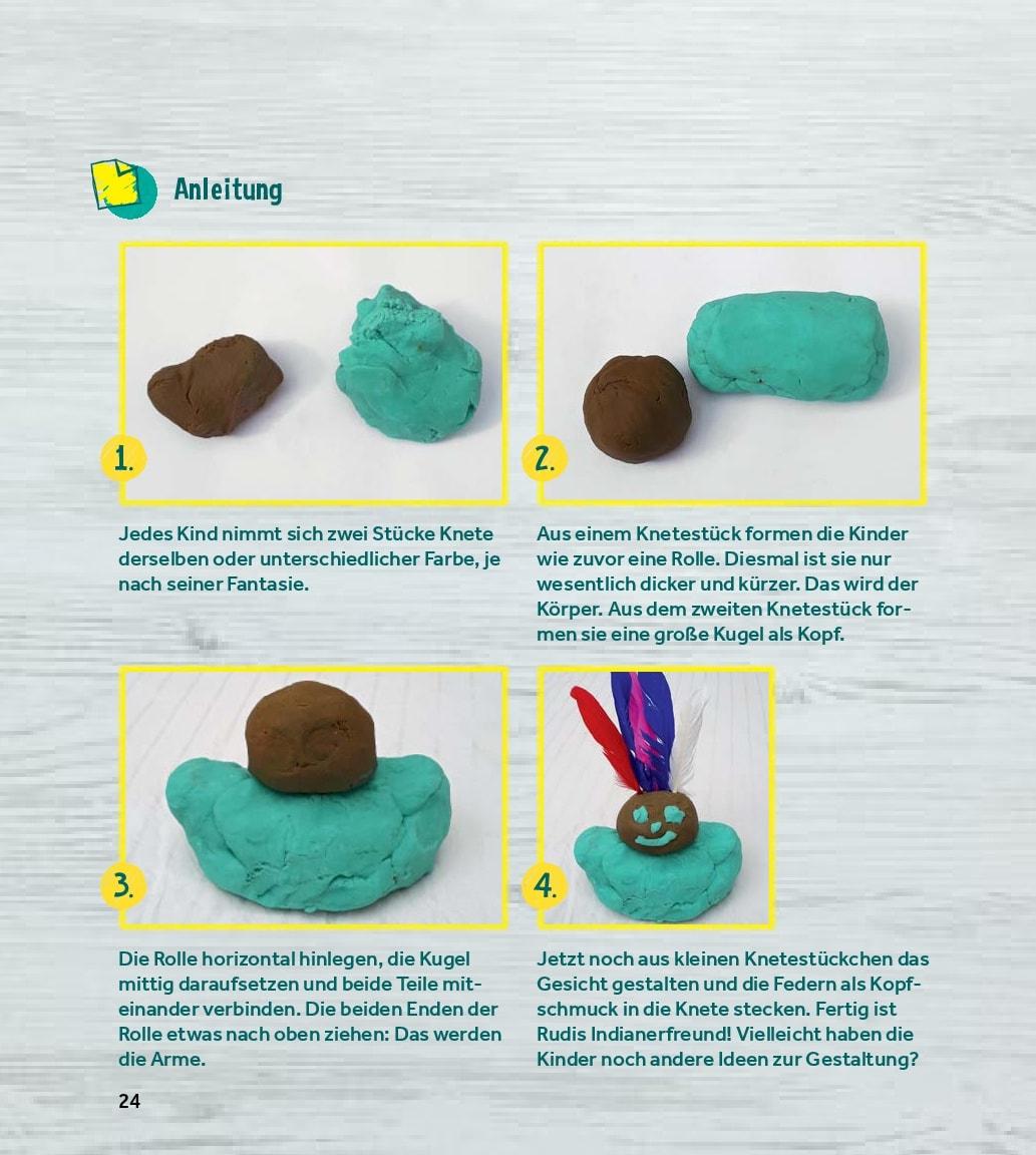 Innenansicht zu Kneten und Modellieren in der Kita