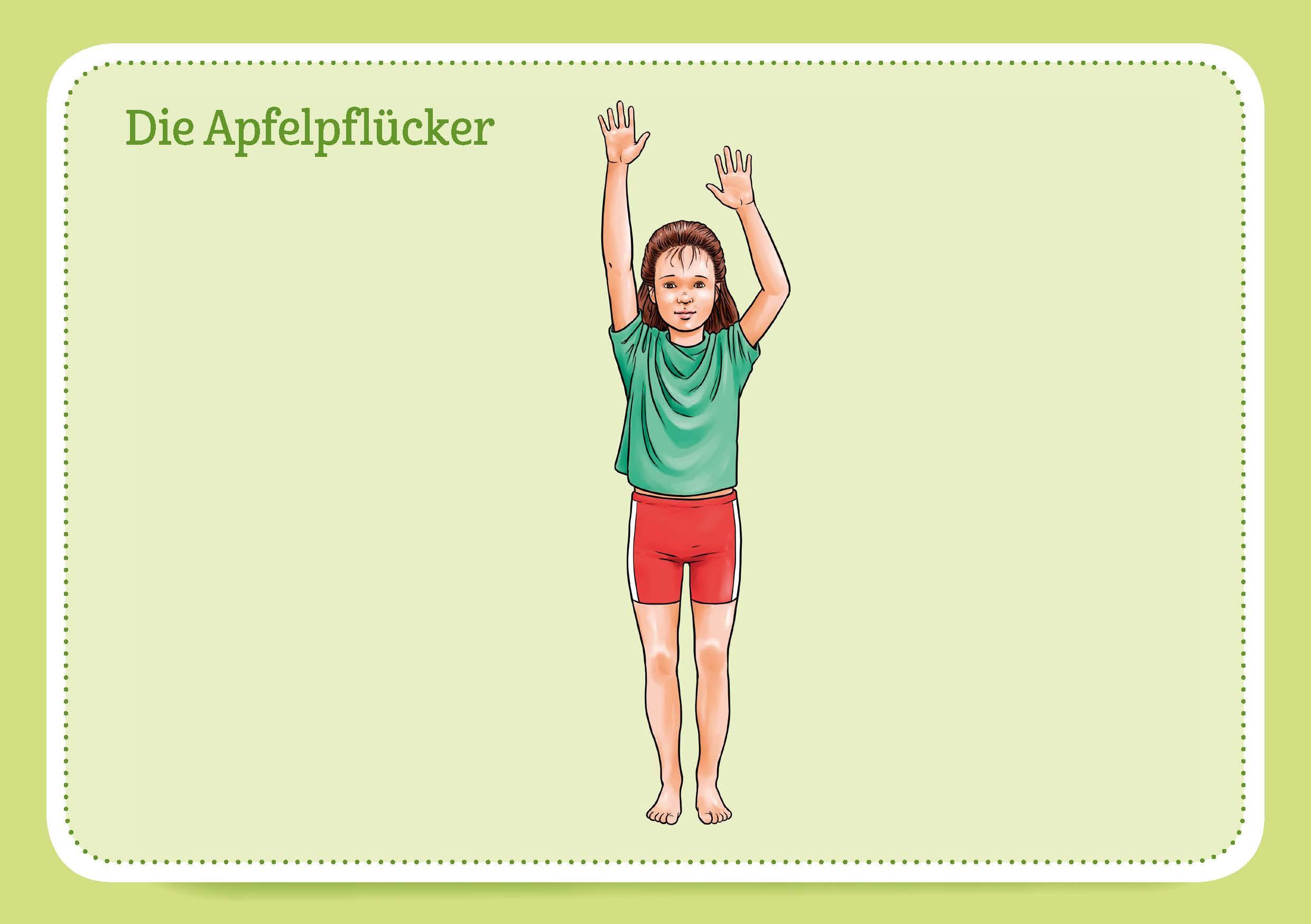 Innenansicht zu 30 x Rückenschule. Bildkarten für Kinder