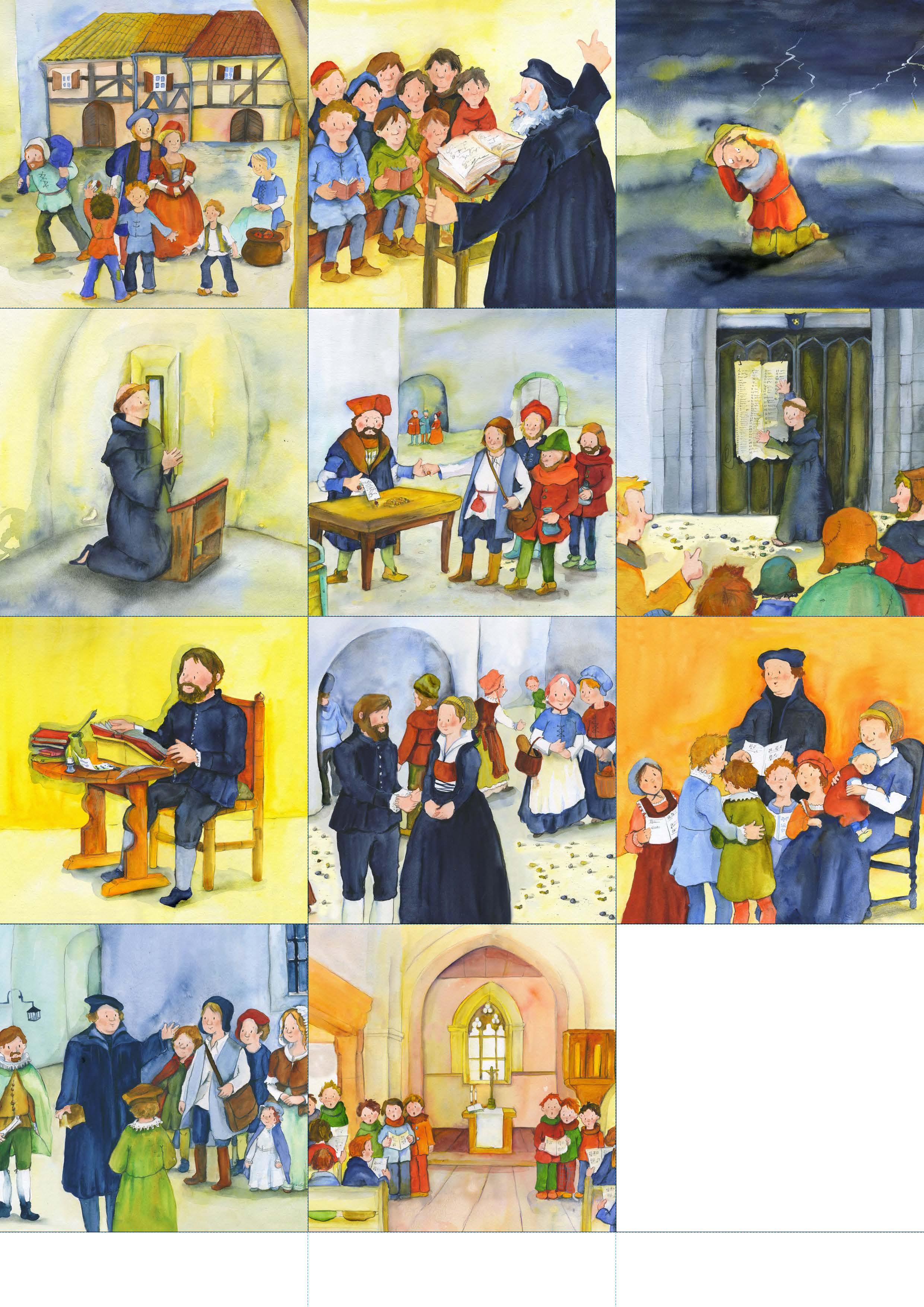 Innenansicht zu Arbeitsmaterial Grundschule. Stationenlernen Religion: Martin Luther