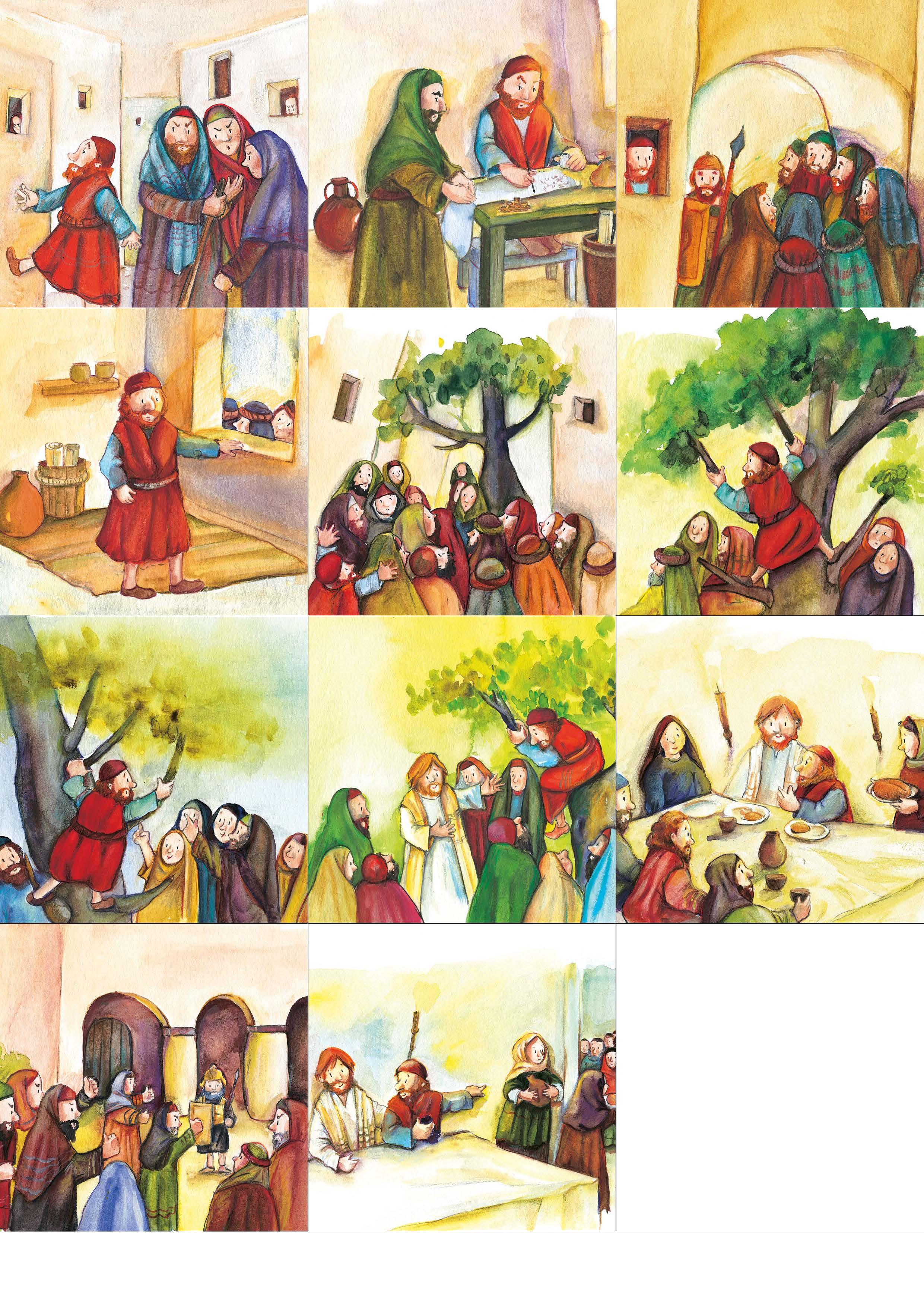 Innenansicht zu Arbeitsmaterial Grundschule. Stationenlernen Religion: Zachäus auf dem Baum