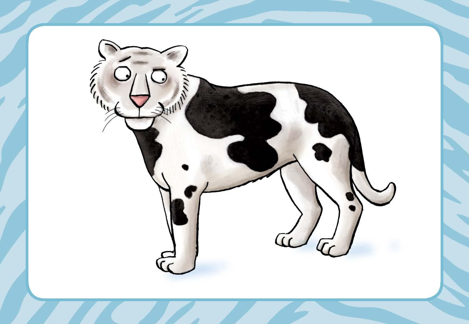 Innenansicht zu Nanu, ist der Tiger denn ´ne Kuh?