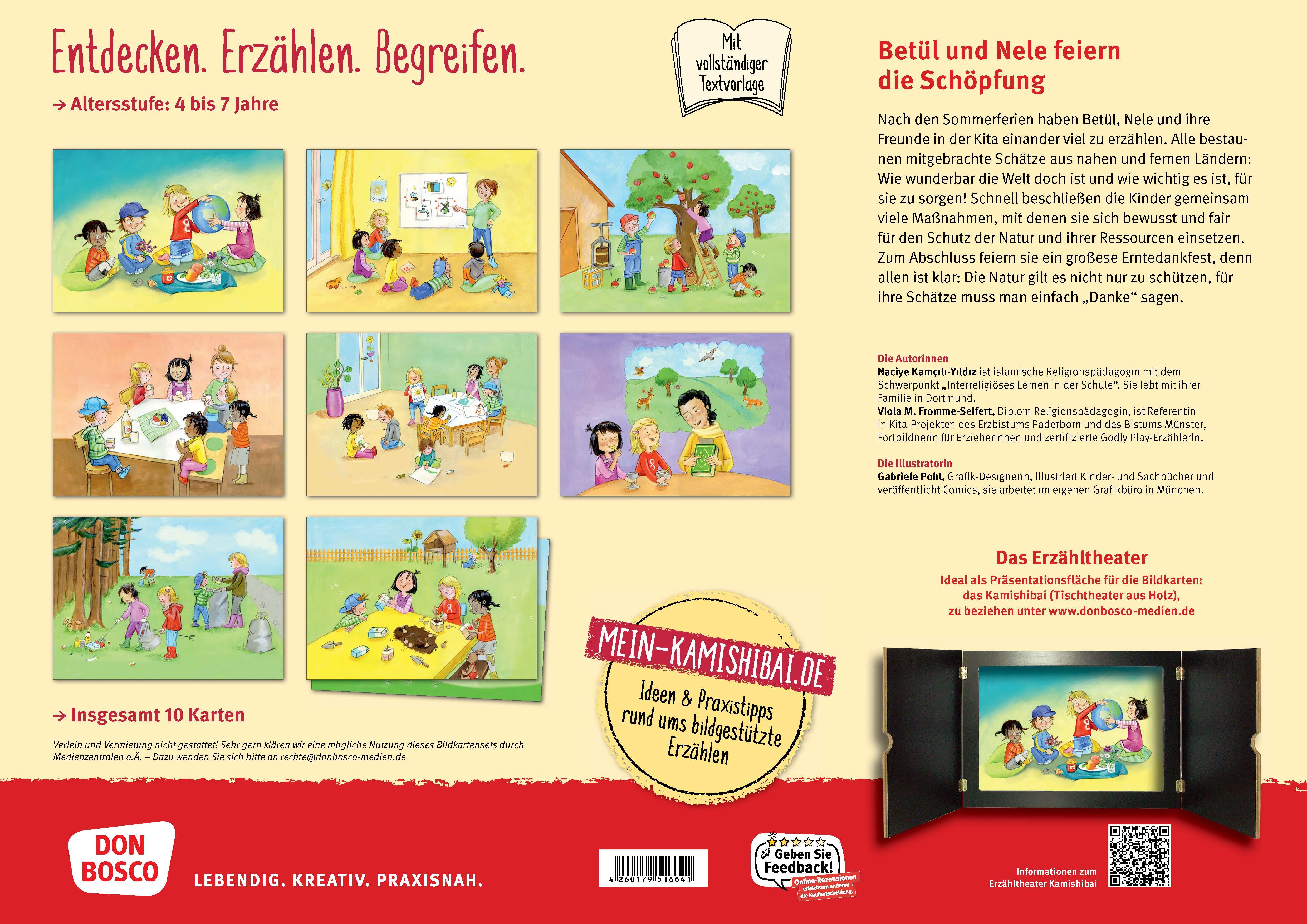 Innenansicht zu Betül und Nele feiern Erntedank. Kamishibai Bildkartenset.