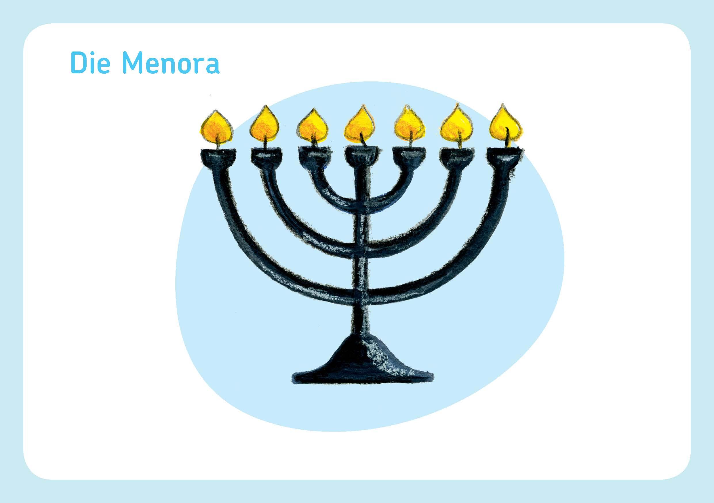 Innenansicht zu Bildkarten Symbole der 5 Weltreligionen