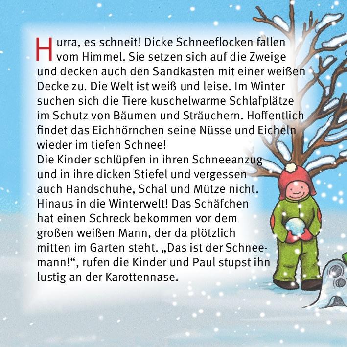 Innenansicht zu Nikolaus feiern mit Emma und Paul. Mini-Bilderbuch.