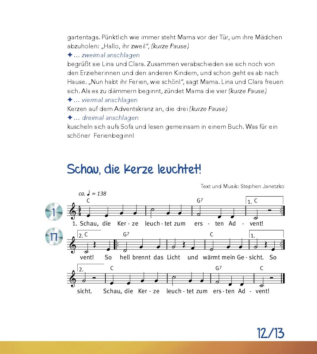 Innenansicht zu Advent und Weihnachten feiern in der Kita, m. Audio-CD