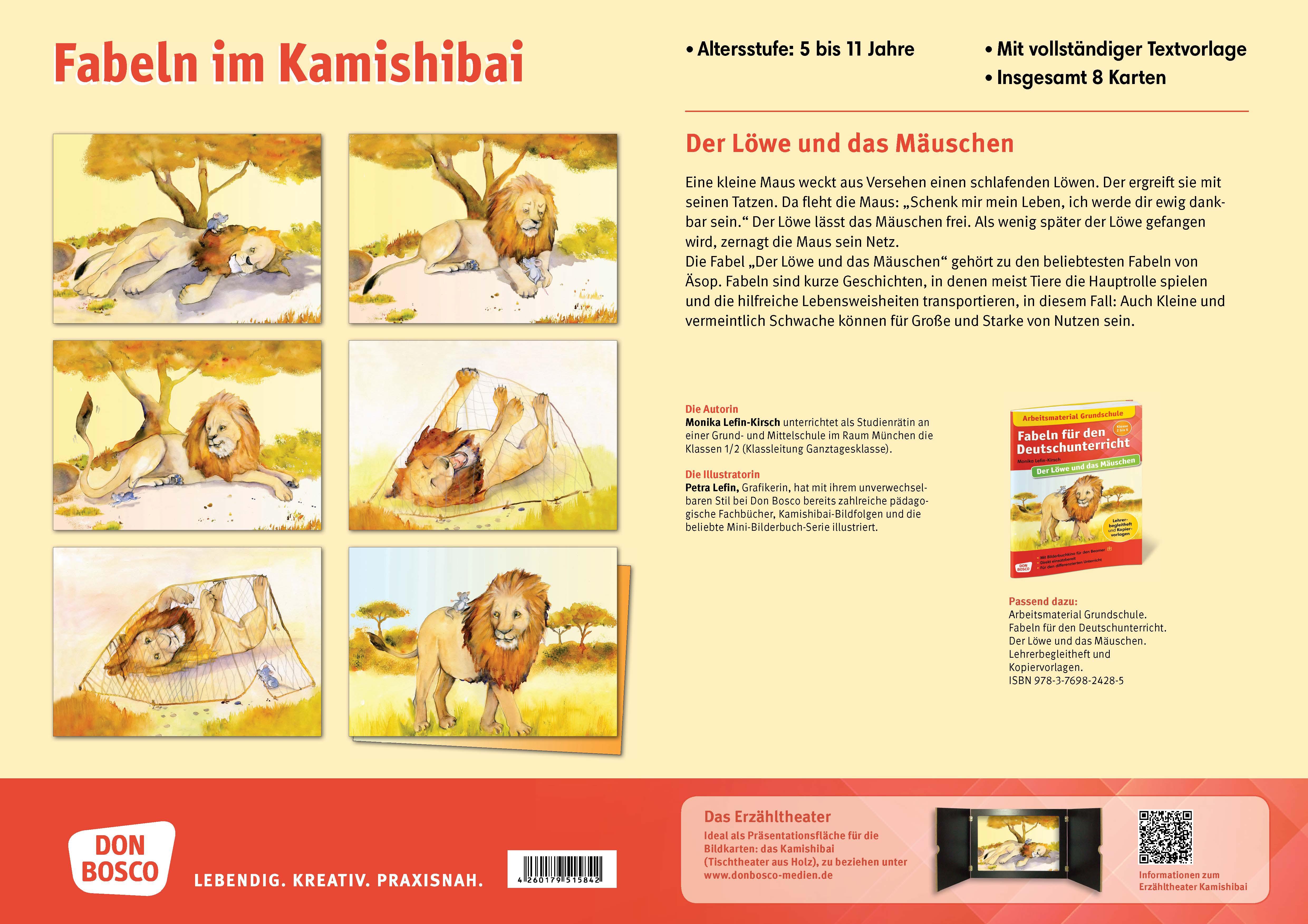 Innenansicht zu Der Löwe und das Mäuschen. eKami.