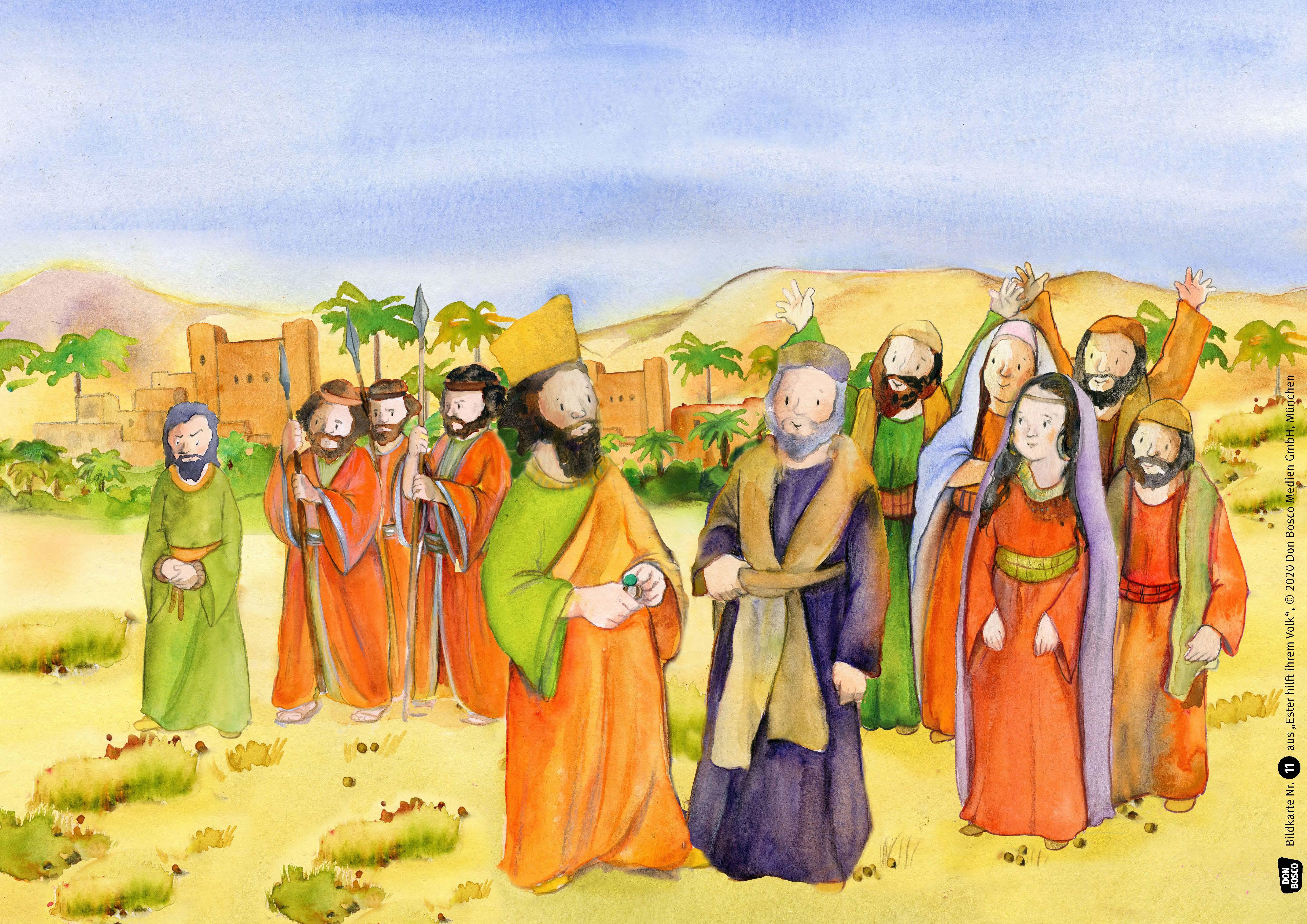 Innenansicht zu Ester hilft ihrem Volk. eKami.