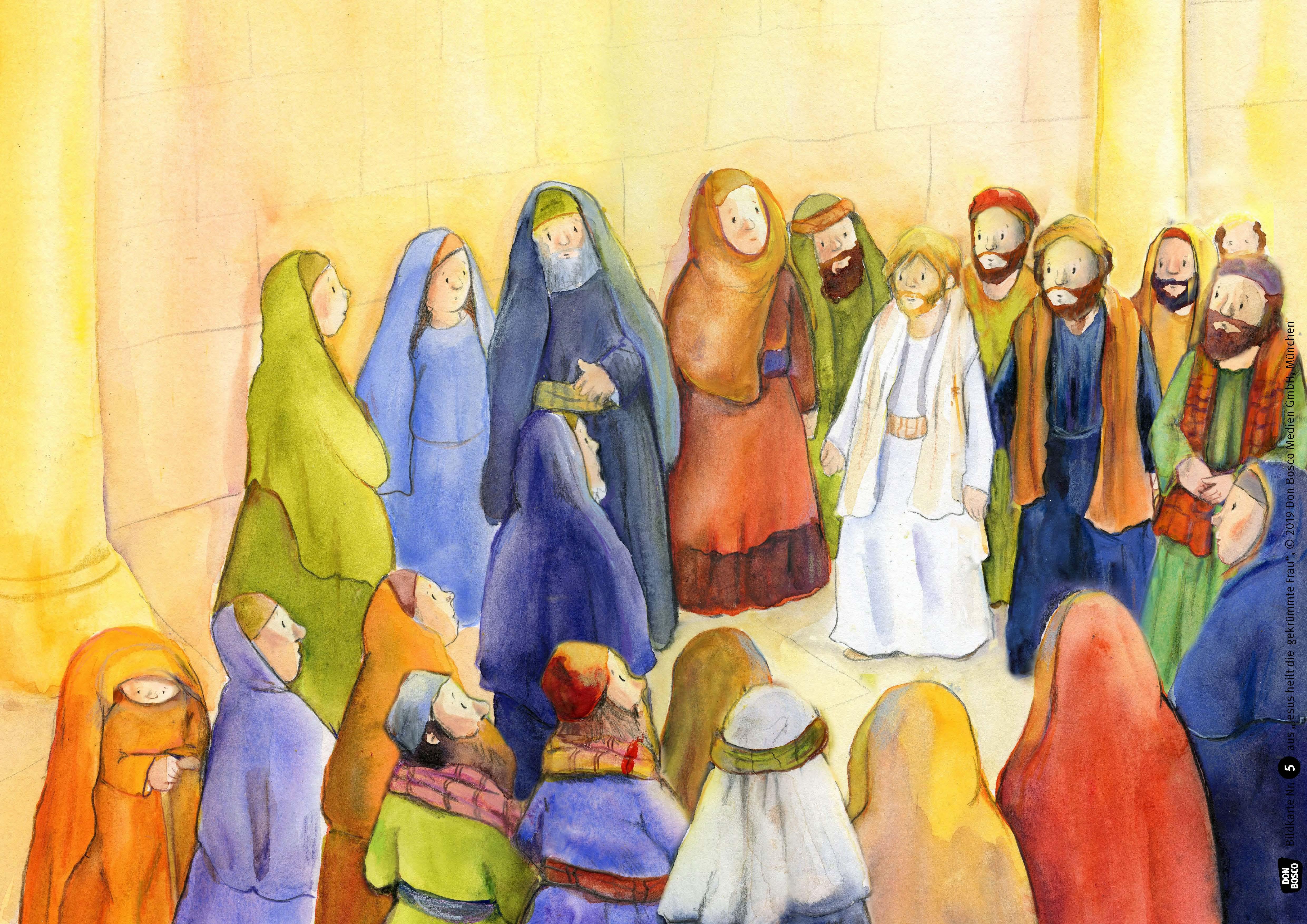 Innenansicht zu Jesus heilt die gekrümmte Frau. eKami.