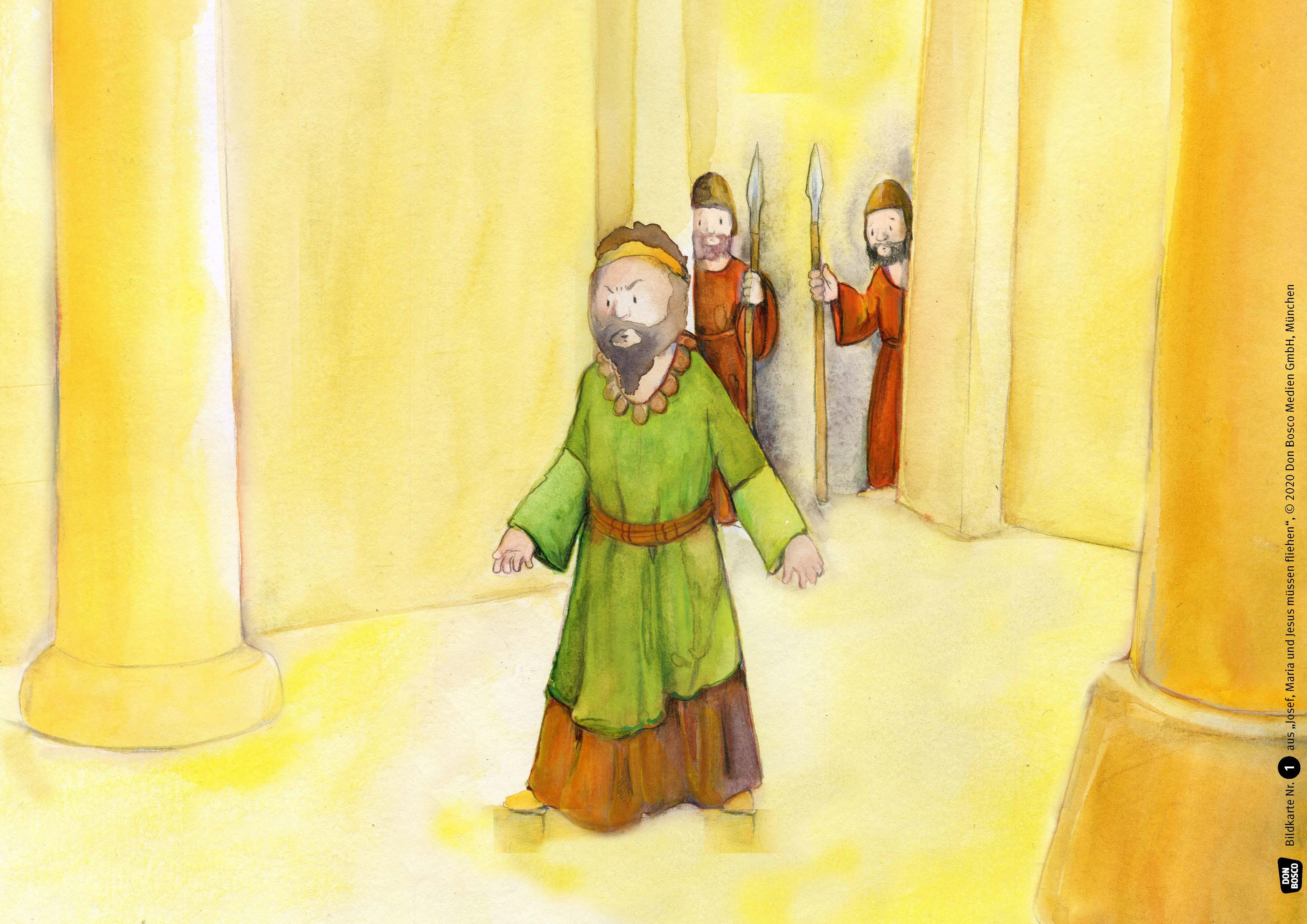 Innenansicht zu Josef, Maria und Jesus müssen fliehen. eKami.