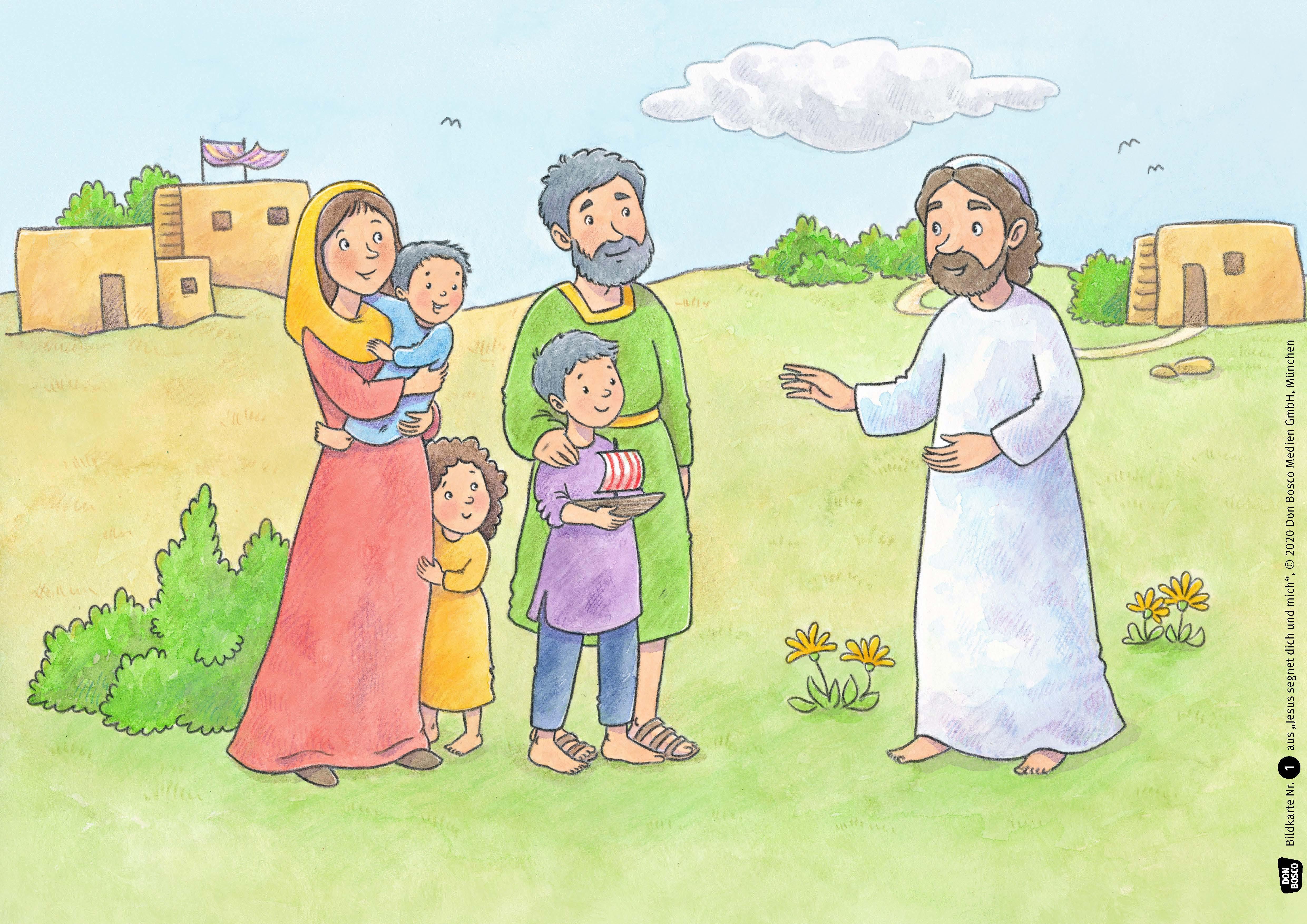 Innenansicht zu Jesus segnet dich und mich. Kamishibai Bildkartenset.