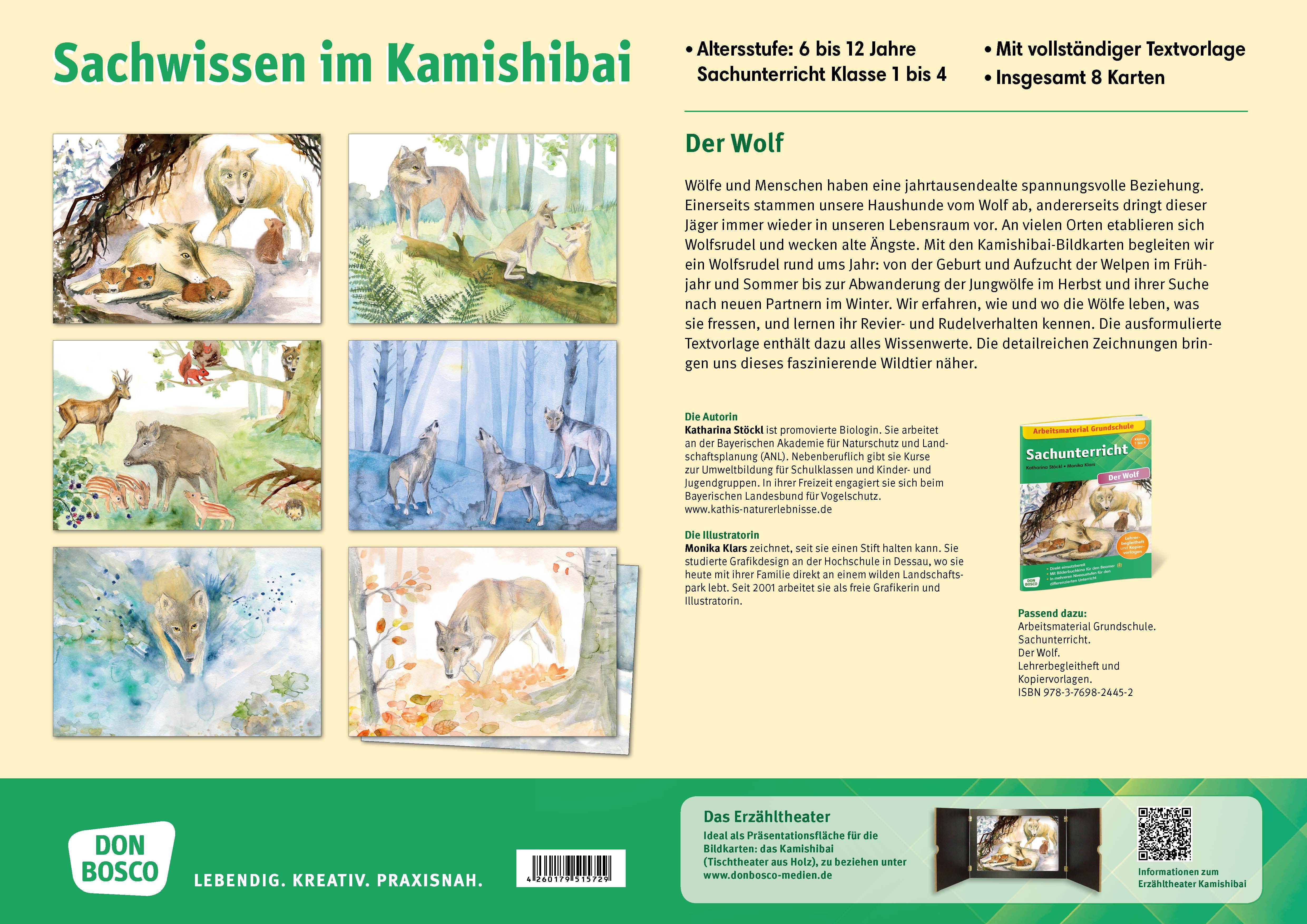 Innenansicht zu Der Wolf. Kamishibai Bildkartenset.