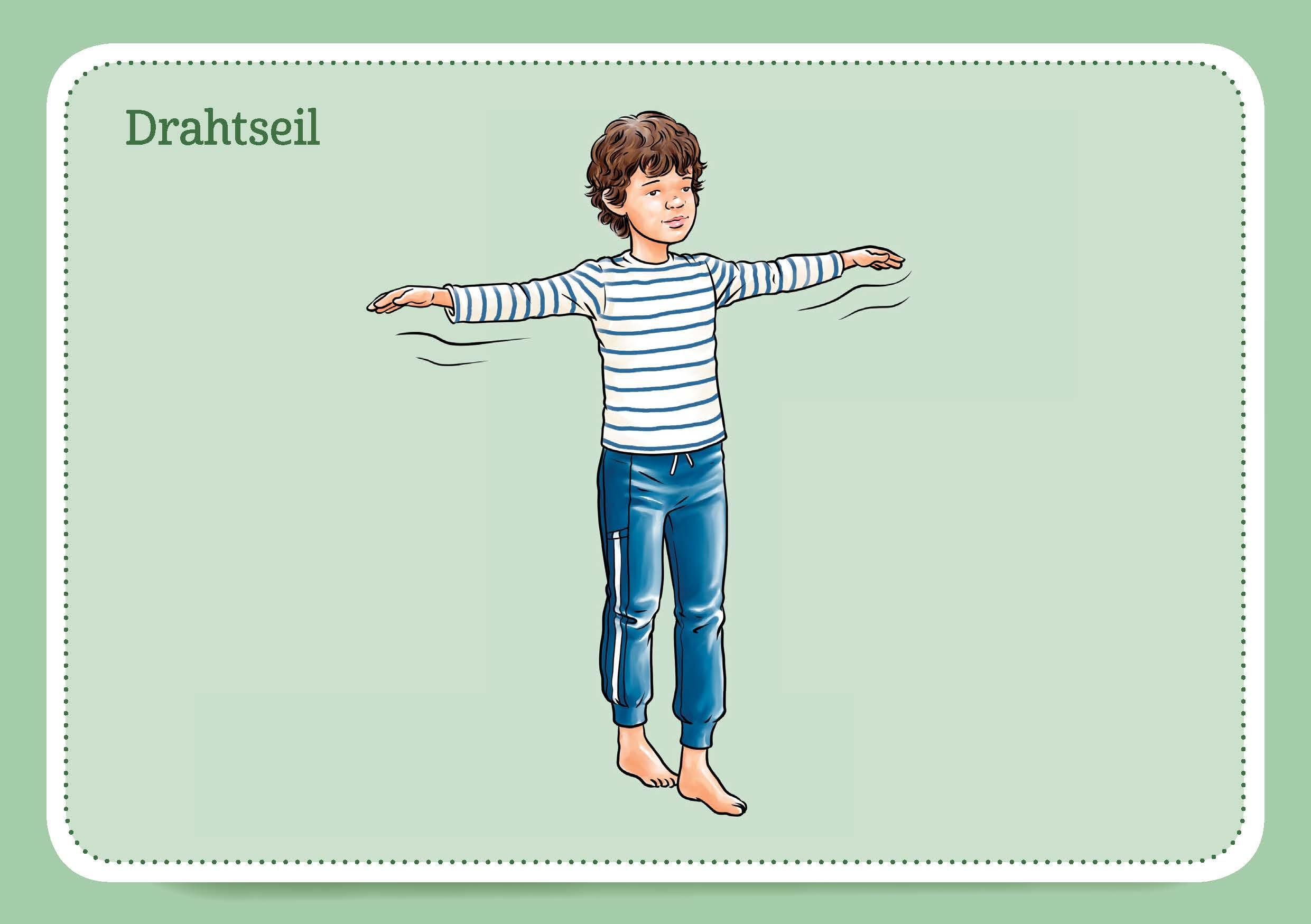 Innenansicht zu 30 Faszientraining-Bildkarten für Kinder