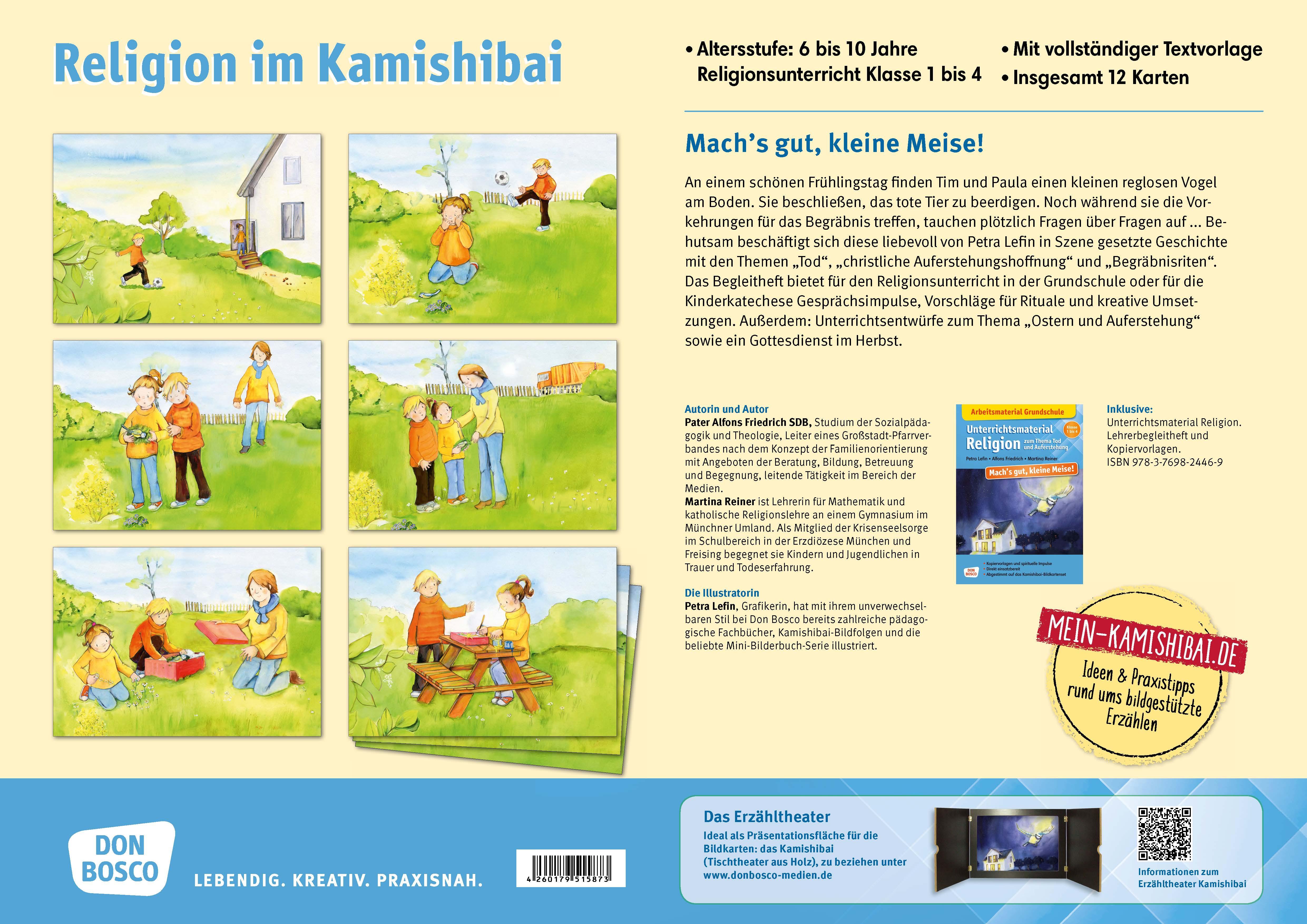 Innenansicht zu Mach's gut, kleine Meise! Kamishibai Bildkartenset.