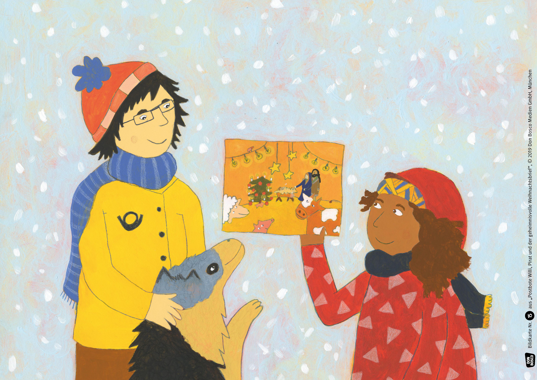 Innenansicht zu Postbote Willi, Pirat und der geheimnisvolle Weihnachtsbrief. Adventskalender.