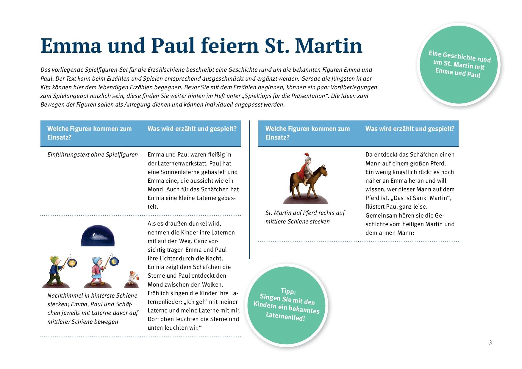 Innenansicht zu Emma und Paul feiern St. Martin.