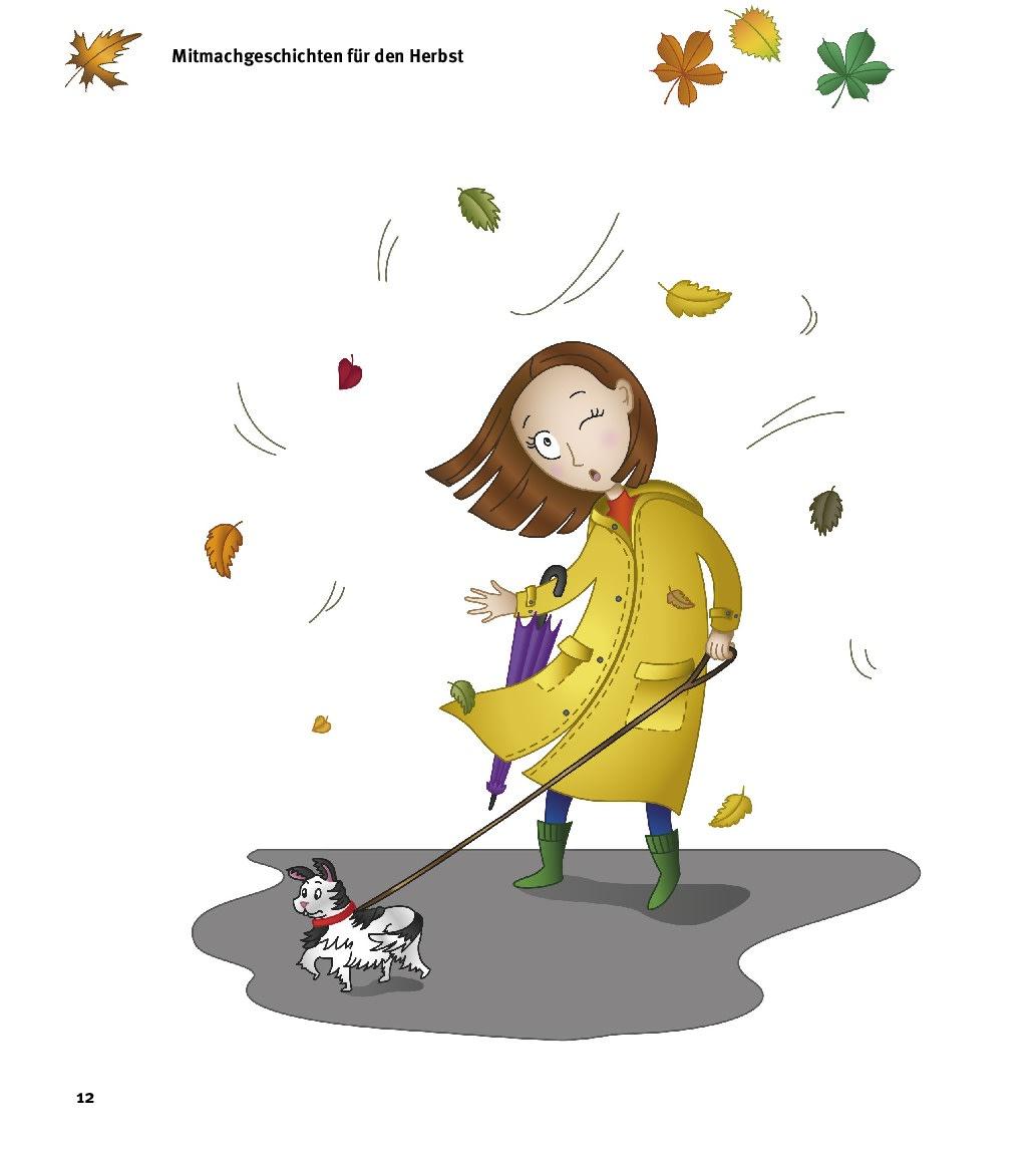 Innenansicht zu 5 Minuten Mitmachgeschichten für Herbst und Winter