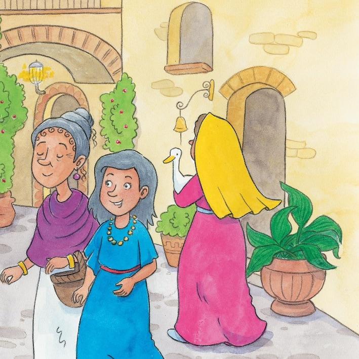 Innenansicht zu Die heilige Lucia und der Lichterkranz. Mini-Bilderbuch