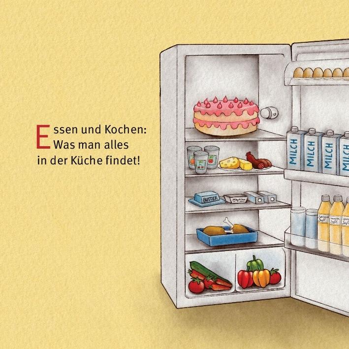 Innenansicht zu Kochen mit Emma und Paul. Mini-Bilderbuch.