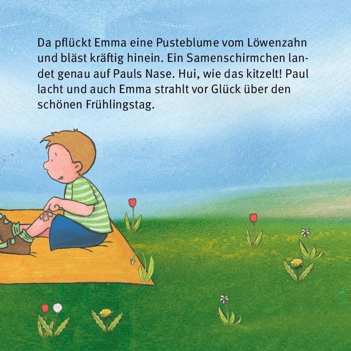 Innenansicht zu Die Jahreszeiten erleben mit Emma und Paul. Mini-Bilderbuch.