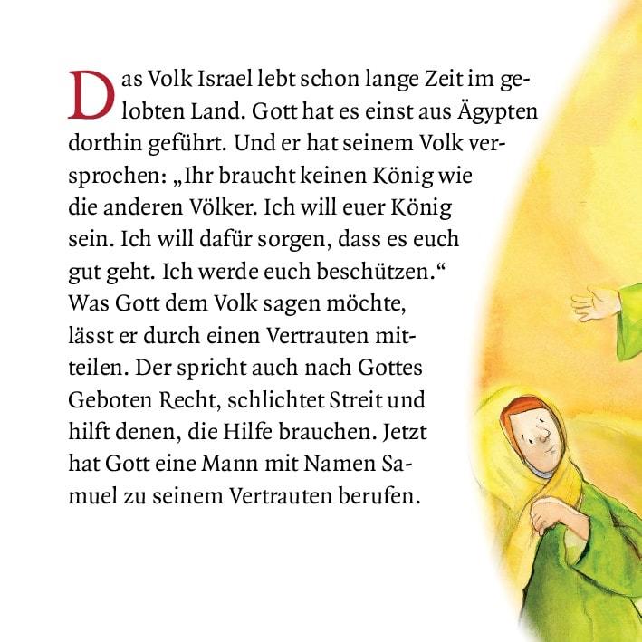 Innenansicht zu David wird König. Mini-Bilderbuch