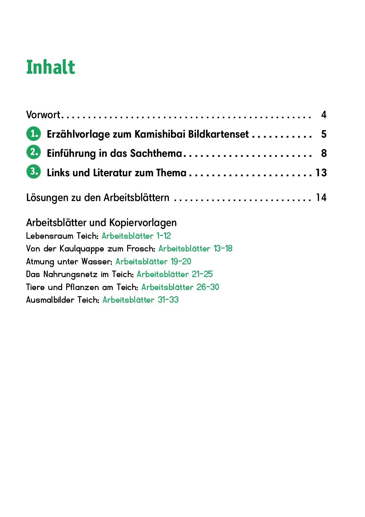 Innenansicht zu Arbeitsmaterial Grundschule. Sachunterricht. Tiere und Pflanzen am Teich.