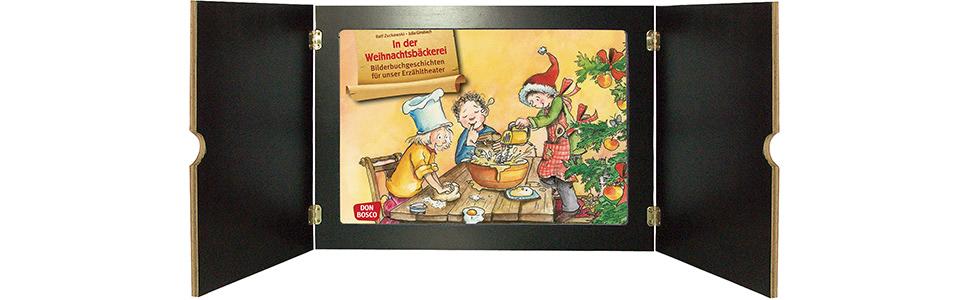 Innenansicht zu In der Weihnachtsbäckerei. Kamishibai Bildkartenset.