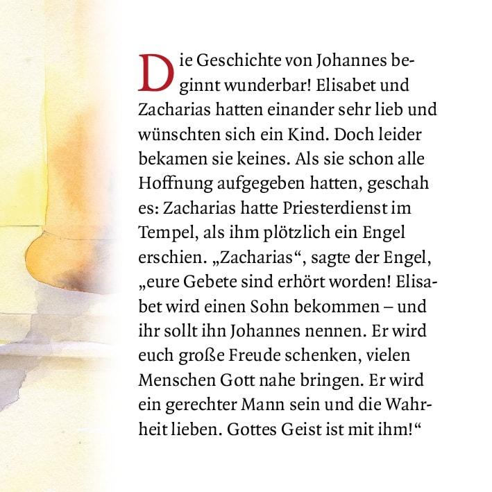 Innenansicht zu Die Geschichte von Johannes dem Täufer. Mini-Bilderbuch.