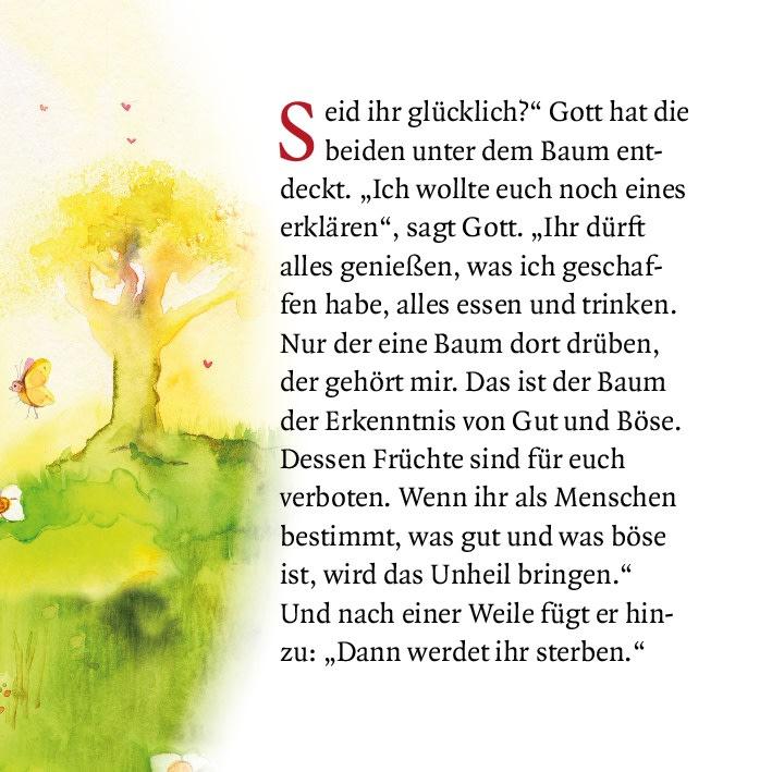 Innenansicht zu Adam und Eva. Mini-Bilderbuch.