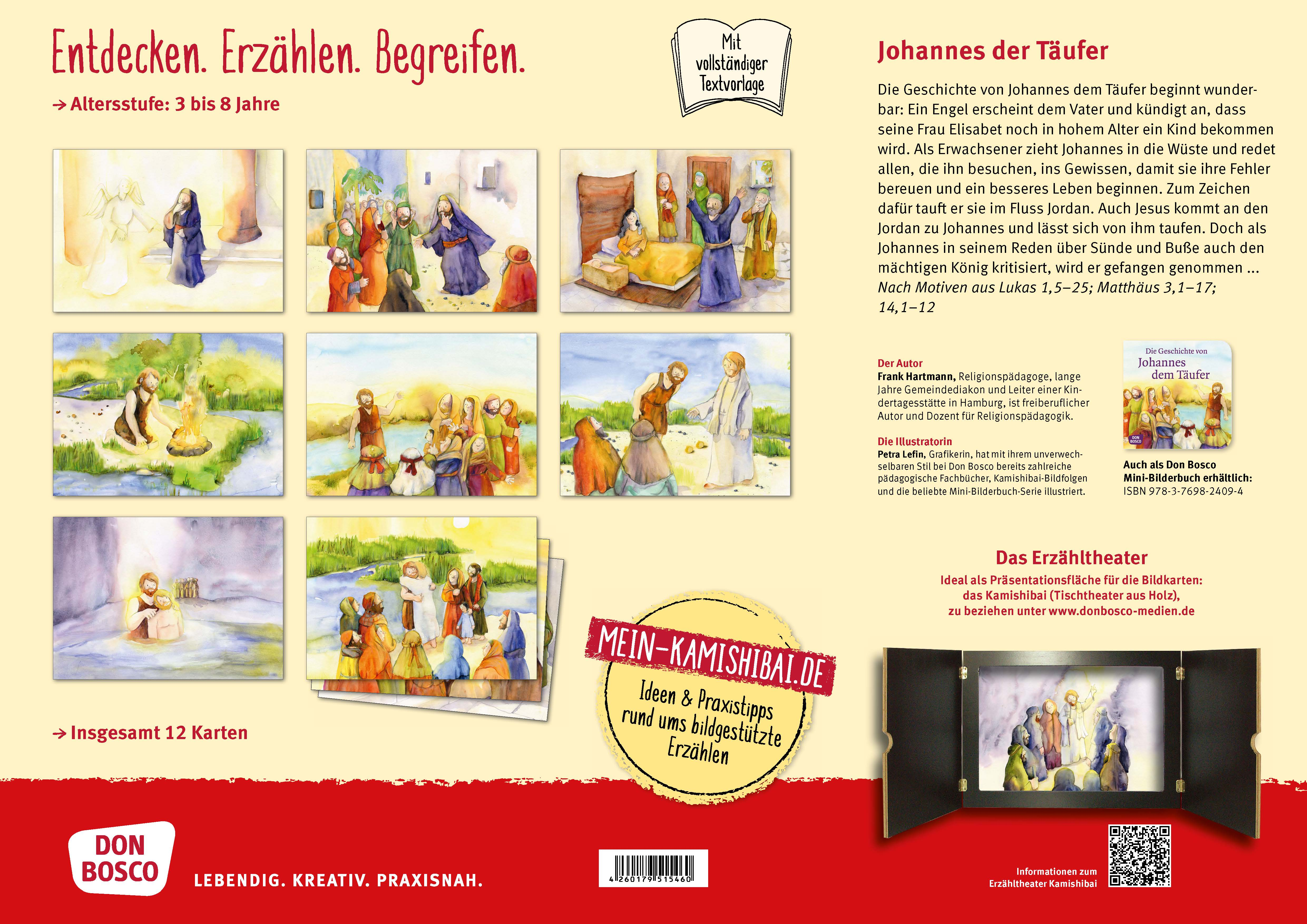 Innenansicht zu Die Geschichte von Johannes dem Täufer. Kamishibai Bildkartenset.