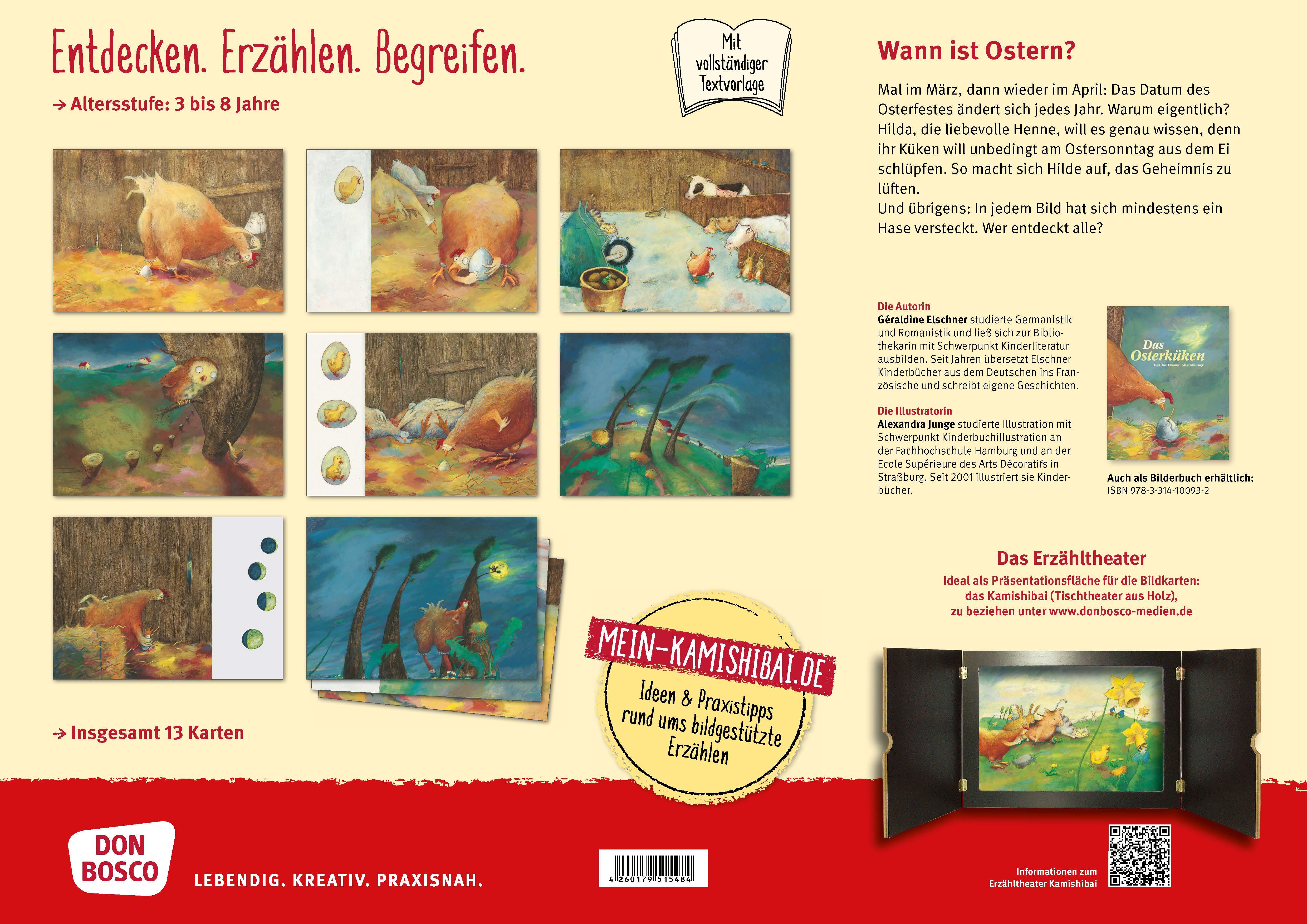 Innenansicht zu Das Osterküken. Kamishibai Bildkartenset.