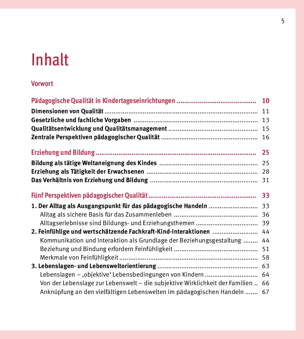 Innenansicht zu Pädagogische Qualität in der Kita. Reflexionsfragen, Praxisbeispiele, Impulse für den pädagogischen Alltag