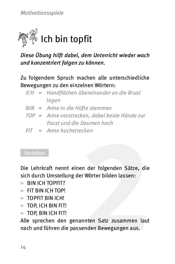 """Innenansicht zu Die 50 besten Spiele für die """"Bewegte Schule"""""""