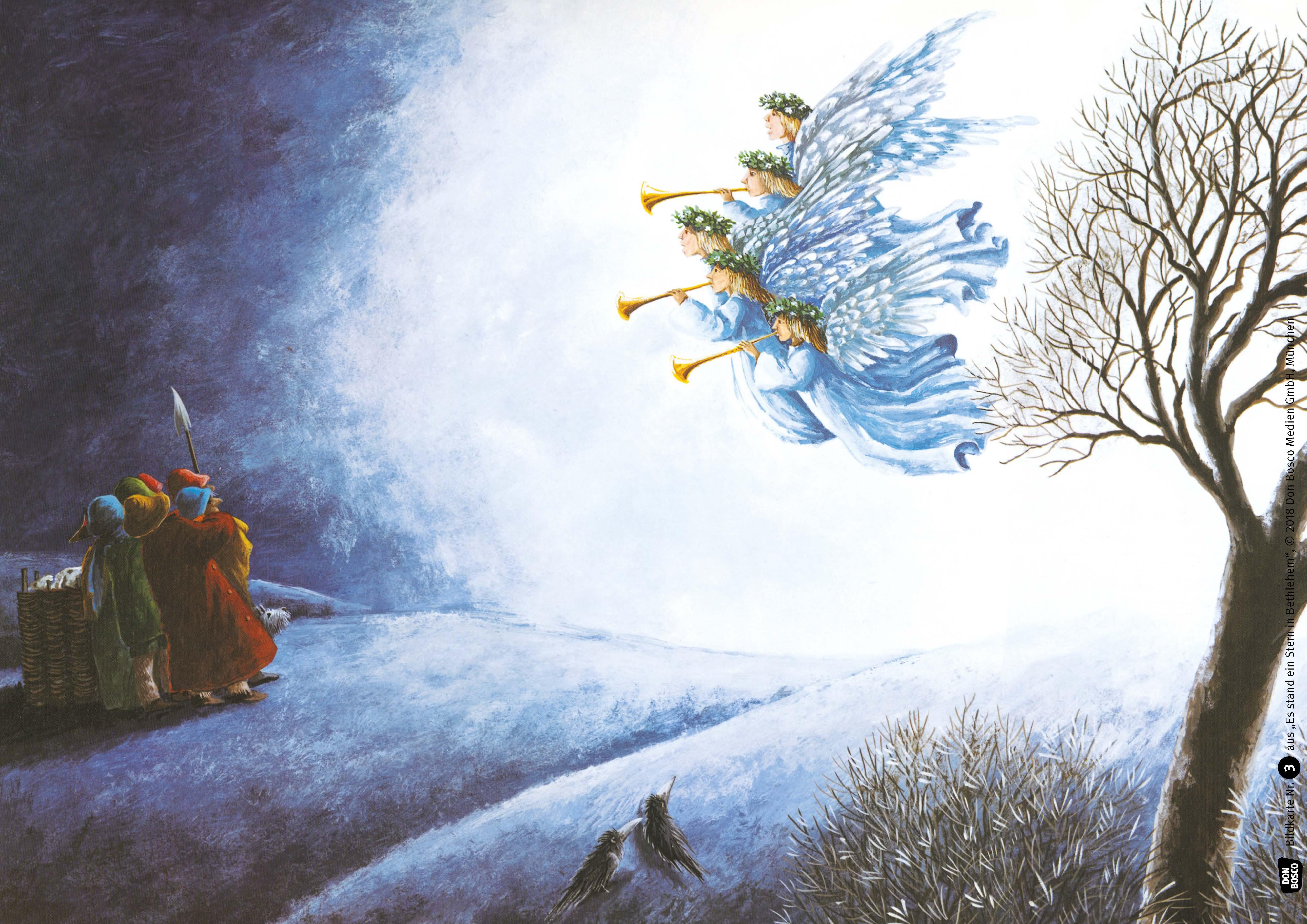 Innenansicht zu Es stand ein Stern in Bethlehem. Kamishibai Bildkartenset.