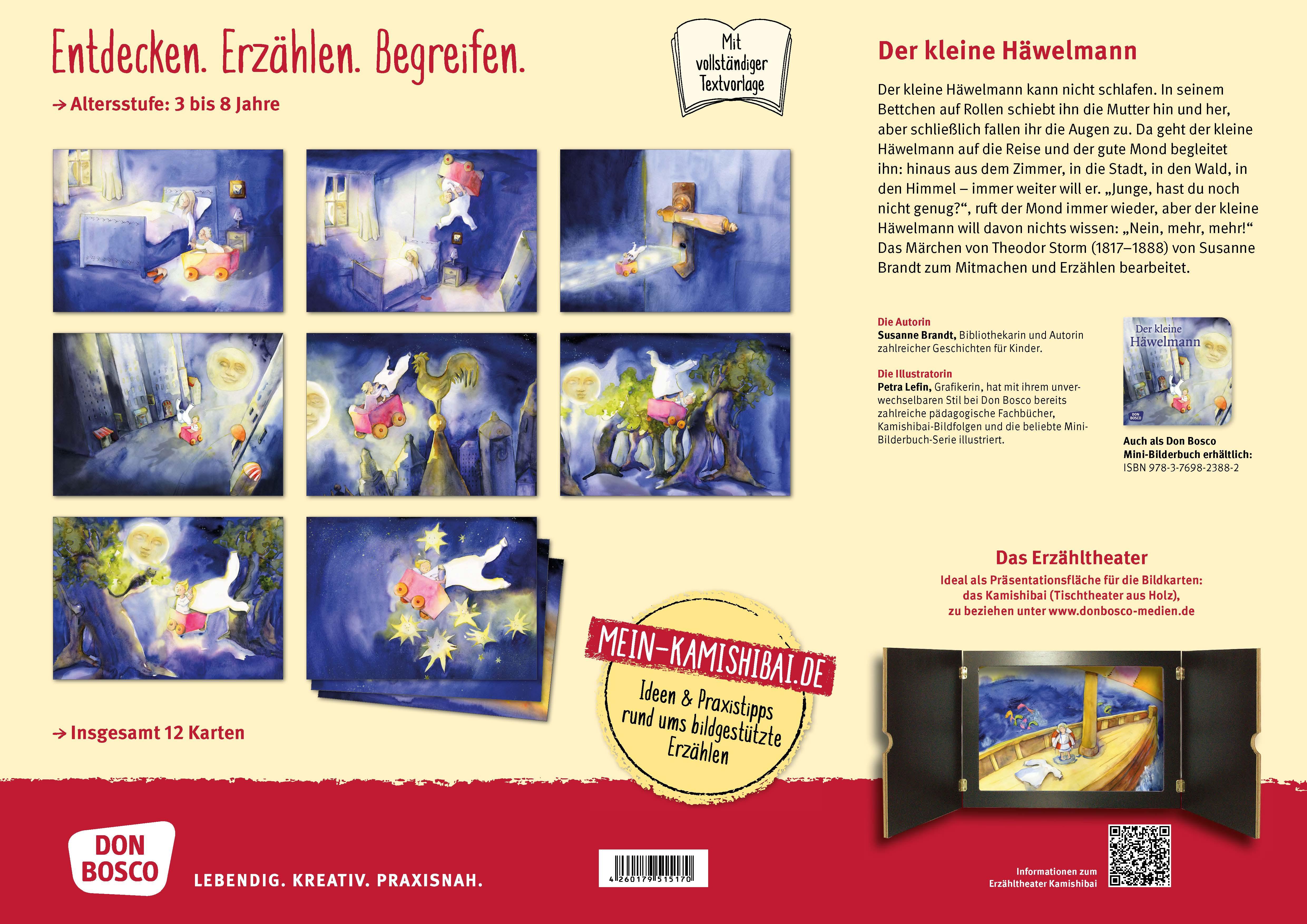 Innenansicht zu Der kleine Häwelmann. Kamishibai Bildkartenset.