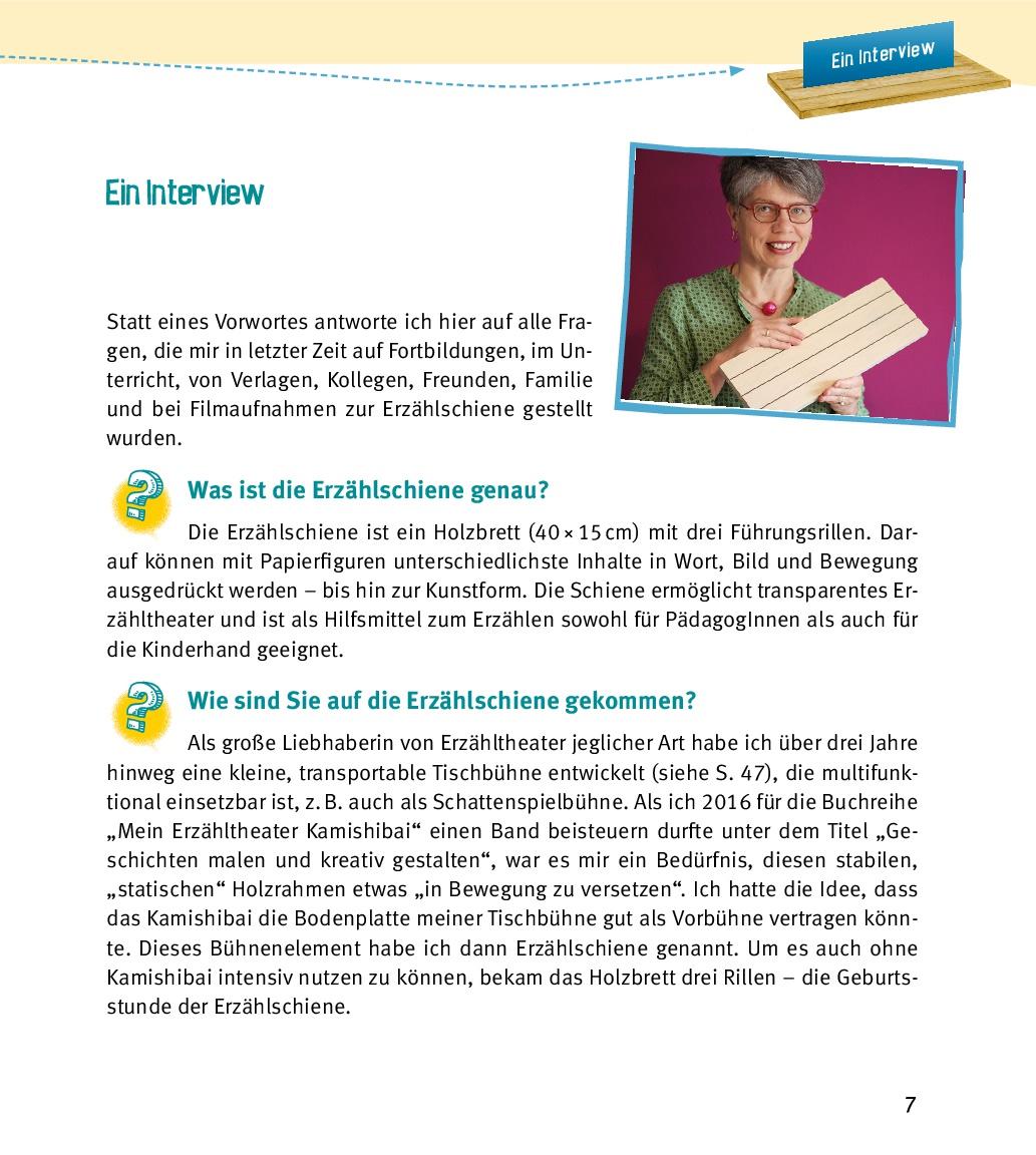 Innenansicht zu Praxisbuch Erzählschiene. Zum kreativen Erzählen, Spielen und Gestalten