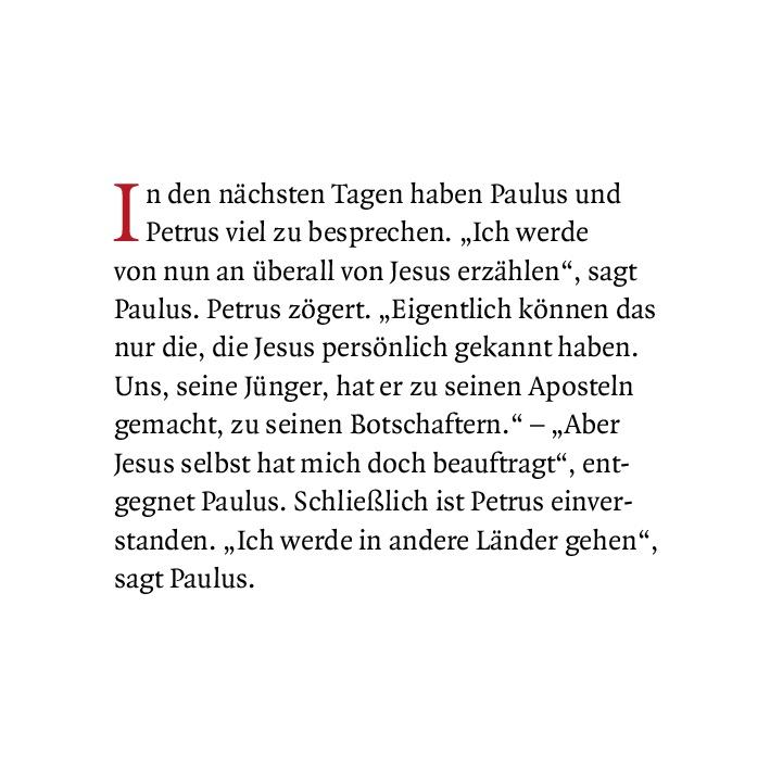 Innenansicht zu Paulus im Gefängnis. Mini-Bilderbuch.