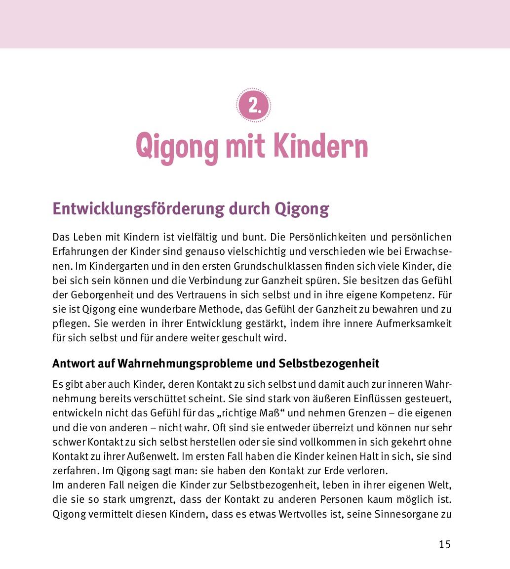Innenansicht zu Qigong mit Kindern, m. Audio-CD